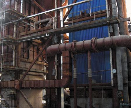甘肃银光化学工业集团35吨锅炉安装