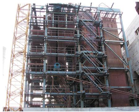 齐鲁制药厂35吨锅炉安装